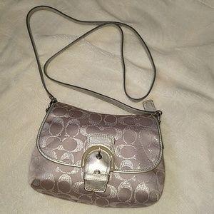 Coach swingpack canvas crossbody bag